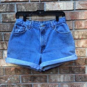 Vintage Levi's High Waisted Cut Off Shorts